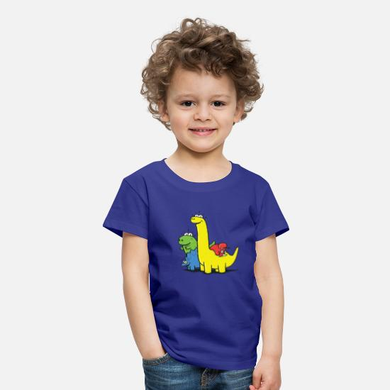 Enfants T-shirts - Dino Gang, Colored - T-shirt premium Enfant bleu roi