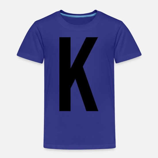 Birthday T-Shirts - Letter K Name Gift Present Bachelor - Kids' Premium T-Shirt royal blue