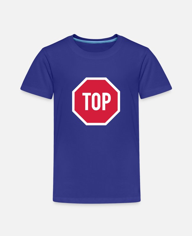 Red T-Shirts - TOP sign - Kids' Premium T-Shirt royal blue