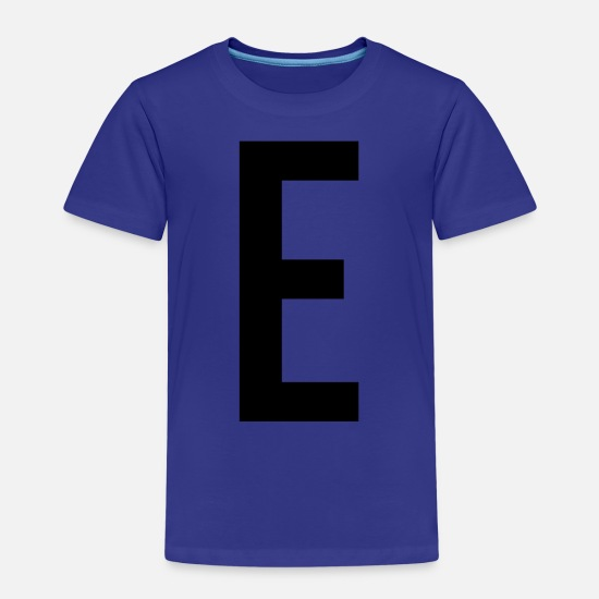 Birthday T-Shirts - E Letter Tshirt Gift Alex Alice Name Shirt - Kids' Premium T-Shirt royal blue
