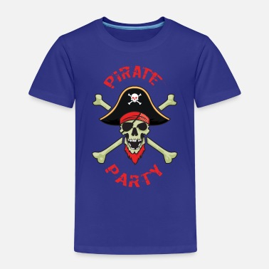 Pirate Party Pirate Party Skull And Bones - Kids' Premium T-Shirt