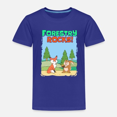 Forest Fox squirrel forest ranger forest nature forests - Kids' Premium T-Shirt