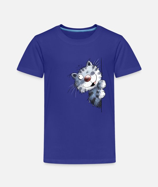 Animal T-Shirts - Funny blue cat for cat friends - Kids' Premium T-Shirt royal blue