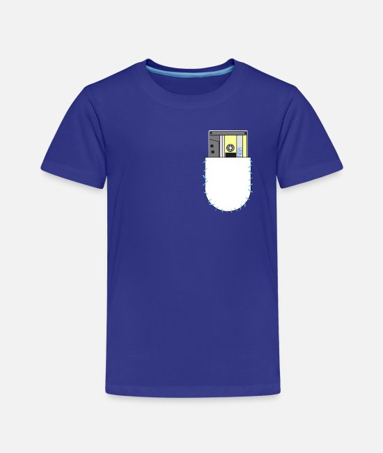 Kassette T-Shirts - Tape Pocket - Kinder Premium T-Shirt Königsblau