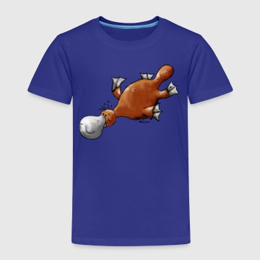 Cute platypus t-shirt design - Kids' Premium T-Shirt