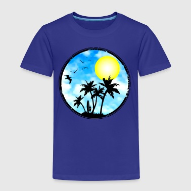 surfing - pacific island - Kids' Premium T-Shirt