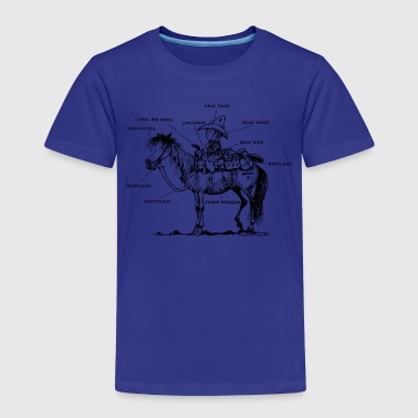 Thelwell 'Learning Western riding' - Kids' Premium T-Shirt