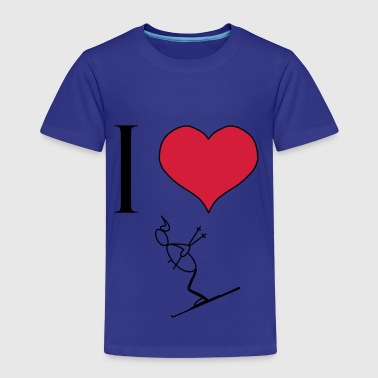 I love skiing - Kids' Premium T-Shirt