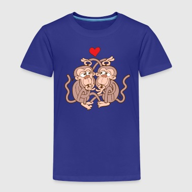 Monkeys Eating Lice and Falling in Love - Kids' Premium T-Shirt