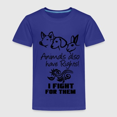 Animals have Rights - Kinder Premium T-Shirt