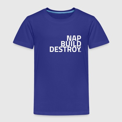 NAP BUILD DESTROY - Børne premium T-shirt