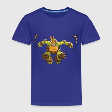 TMNT Turtles Michelangelo Ready For Action - Premium-T-shirt barn