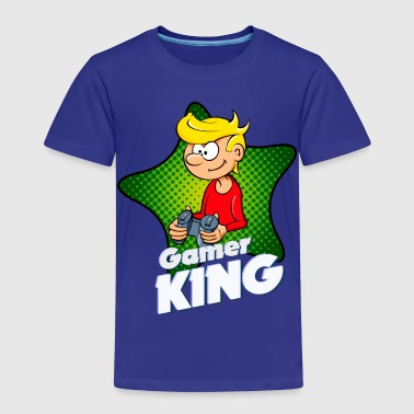 Kids - Gamer King - Kinder Premium T-Shirt