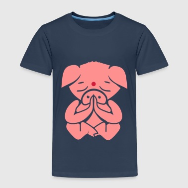 A pig meditating  - Kids' Premium T-Shirt