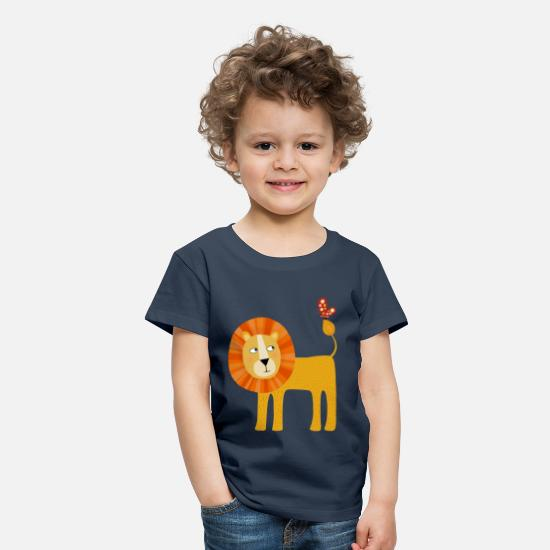 Collection T-Shirts - Löwe - Kinder Premium T-Shirt Navy