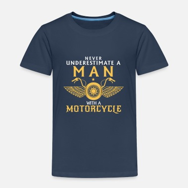 Motorcycle NEVER UNDERESTIMATE A MAN ON A MOTORCYCLE - Kids' Premium T-Shirt