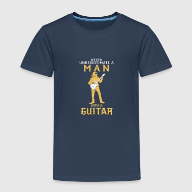A Man With A Bass Guitar Never Underestimate NEVER UNDERESTIMATE A MAN WITH A BASS GUITAR! - Kids' Premium T-Shirt