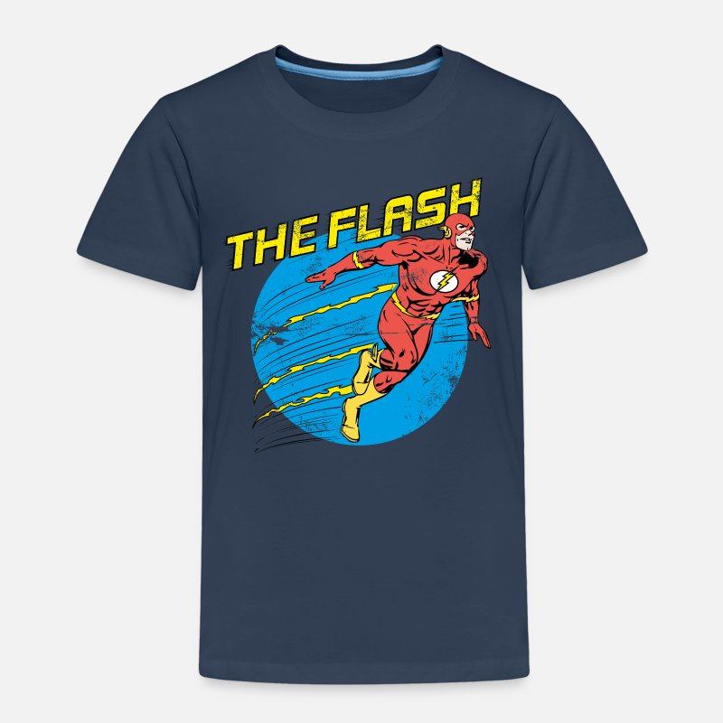Superhelden T-Shirts - Justice League The Flash - Kinder Premium T-Shirt Navy