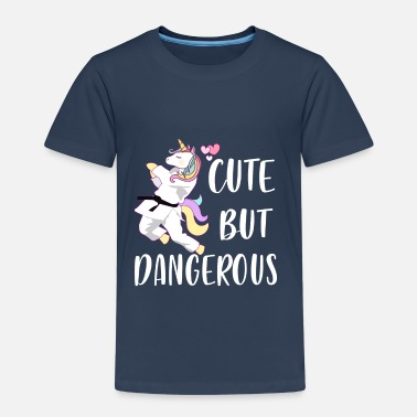 Brazilian Cute but Dangerous - Unicorn Karate Taekwondo - Premium-T-shirt barn