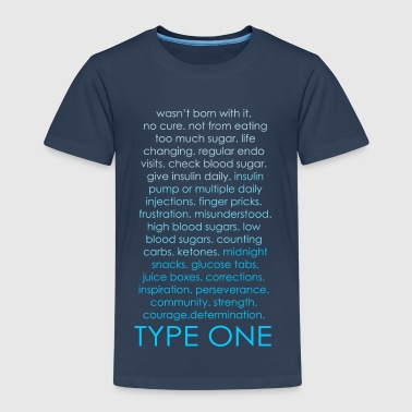Type One Ombre - Blue - Kids' Premium T-Shirt
