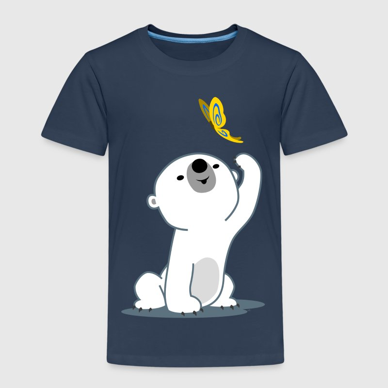 Cute Cartoon Polar Bear Cub by Cheerful Madness!! - Kids' Premium T-Shirt