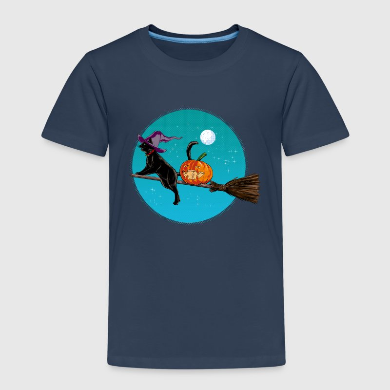Halloween Witch Cat - Kids' Premium T-Shirt