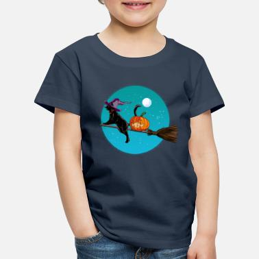 Halloween Halloween Witch Cat - Kids' Premium T-Shirt