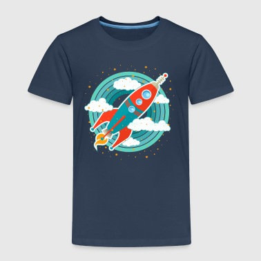 Retro rocket (circles) - Kids' Premium T-Shirt