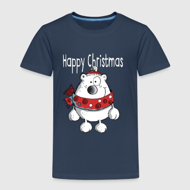 Happy Christmas Bear - Winter - Cartoon - Gift - Kids' Premium T-Shirt