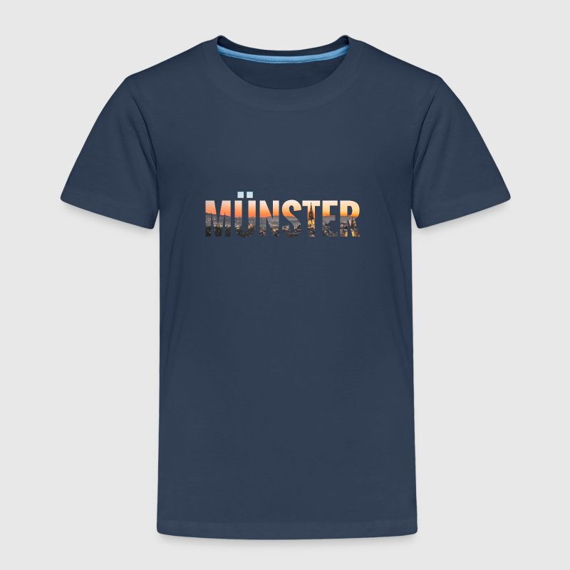 City Skyline Münster - Kinder Premium T-Shirt