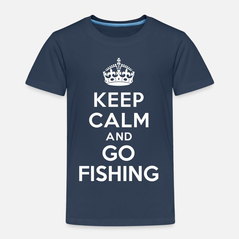 Pêche T-shirts - Keep calm and go fishing - T-shirt premium Enfant bleu marine