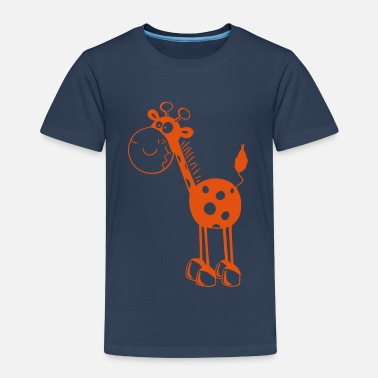 Cartoon Giraffes Funny Giraffe - Giraffes - Cartoon - Fun - Kids' Premium T-Shirt
