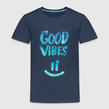 Good Vibes - Funny Smiley Statement / Happy Face - Kinderen Premium T-shirt