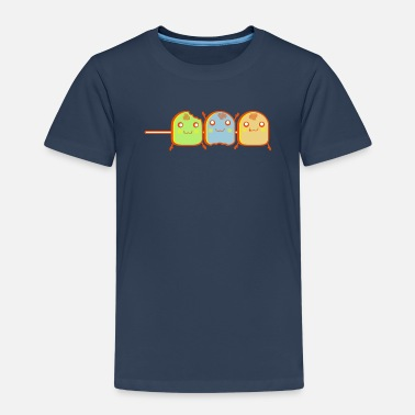 Marshmallow DS Kawaii Designs: Marshmallow-Spieß - Premium T-shirt barn