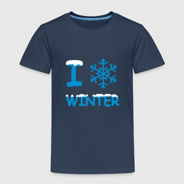 I love winter Schneeflocke - Kinder Premium T-Shirt