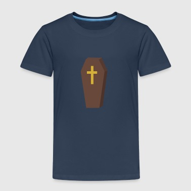 Funeral Halloween coffin cross - Kids' Premium T-Shirt
