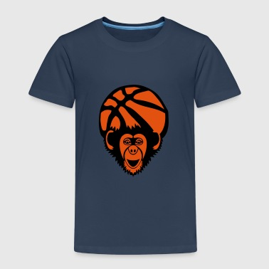 basket singe monkey chimpanze basketball - T-shirt Premium Enfant