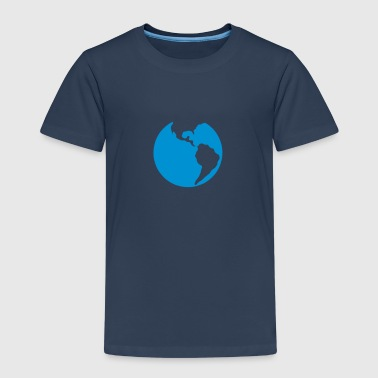 Globe planet earth blue - Kids' Premium T-Shirt
