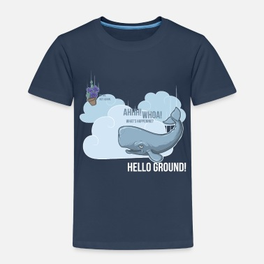 Hitchhikers Guide To The Galaxy Whale & Petunia - Kids' Premium T-Shirt