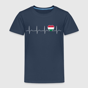 Ungern flagga heartbeat - nation - flagga - hjärta - Premium-T-shirt barn