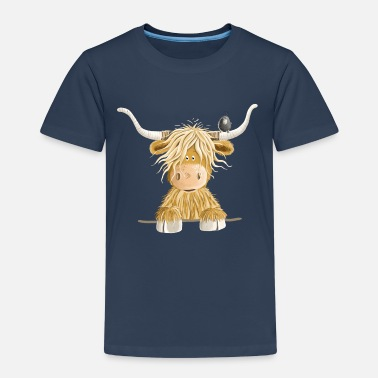 Cow Funny Scottish Highland cow cow gift - Kids' Premium T-Shirt