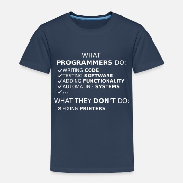 Program What programmers do and what they don't do (white) - Kids' Premium T-Shirt