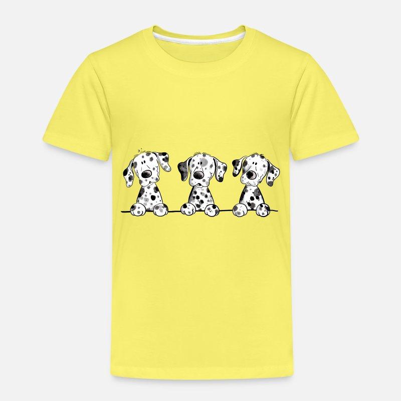 8f0214e0b8926 Cadeau de dessin animé drôle de chien chiot dalmatien T-shirt premium Enfant