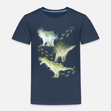 Dino Animal Planet Various Dinosaurs Watercolour - Kids' Premium T-Shirt