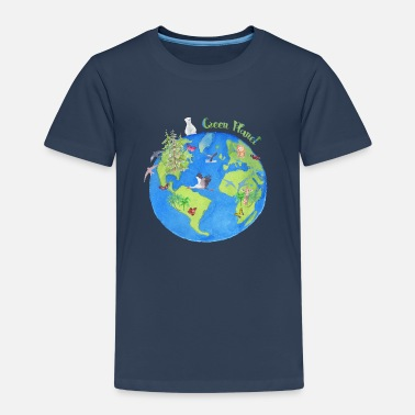 Green Planet - Planet - Kinder Premium T-Shirt