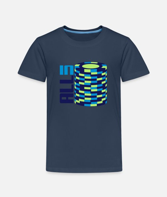 Ace T-Shirts - Chip Stack - All In - Kids' Premium T-Shirt navy