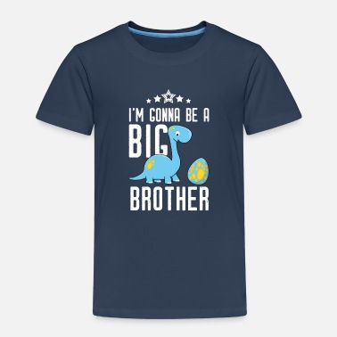 Brother Gonna be big brother-I will big brother Dino - Kids' Premium T-Shirt