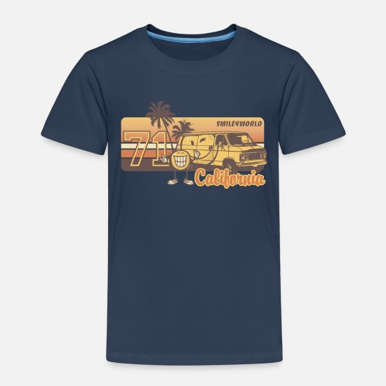 Cool T-paidat - SmileyWorld 'California' teenager t-shirt - Lasten premium t-paita navy