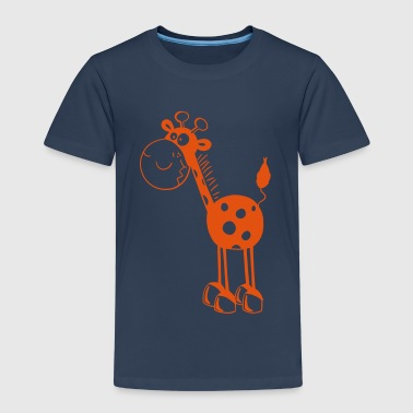 Funny Giraffe - Giraffes - Cartoon - Fun - Kids' Premium T-Shirt