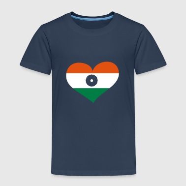 Indien Herz; Heart India - Kinderen Premium T-shirt